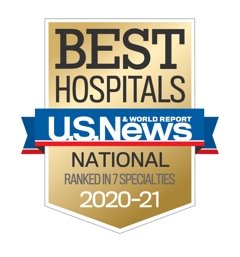 best Nationl hospitals US News and World report
